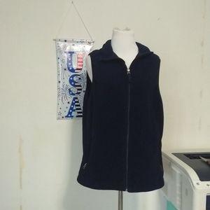 Navy blue Lands End fleece  vest, sz XL  18/20
